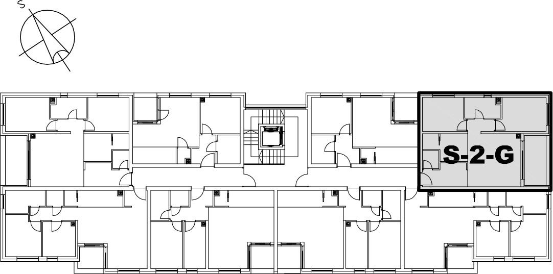 Stan S-2-G - Raspored stanova na katu
