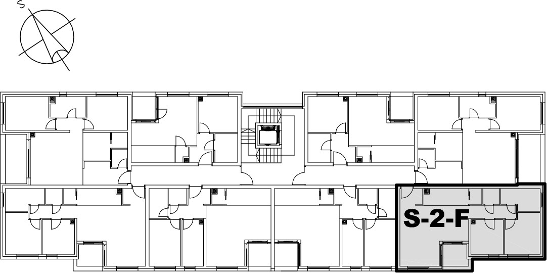 Stan S-2-F - Raspored stanova na katu