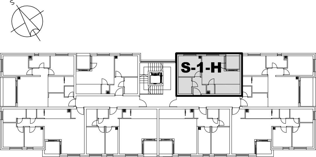Stan S-1-H - Raspored stanova na katu